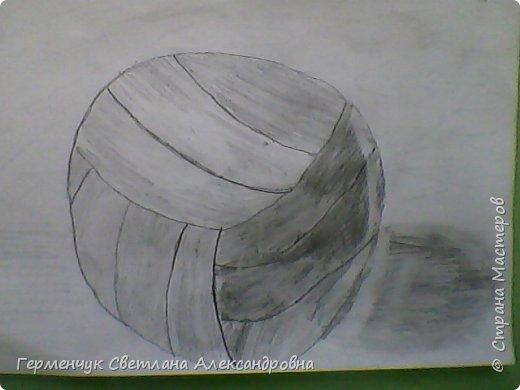 """Работы моих ребят  4 класса по теме урока """"Мяч.Графика"""" У всех получились мячи на 10 баллов! (   оценка знаний в Беларуси- по десятибалльной системе.Жаль ,что по изобразительному искусству учащиеся в начальной школе не оцениваются)  фото 21"""