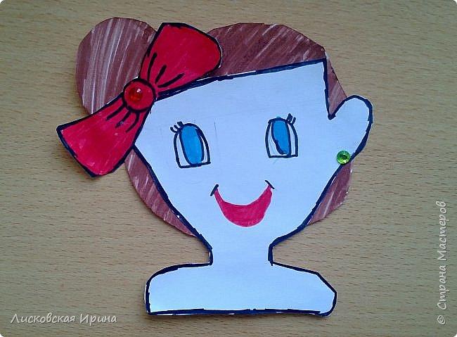 На занятии делали с детьми портреты из бумаги. Несколько вариантов формы лица, все выбирали на свой вкус. А прически получились разные. Здесь мои образцы. Идею увидела в интернете Pinterest фото 15