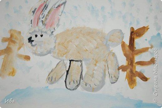 Образ зайца в различных образах рисовали с детьми с помощью графических материалов. Использовали фломастеры, маркеры , масляные мелки. фото 13