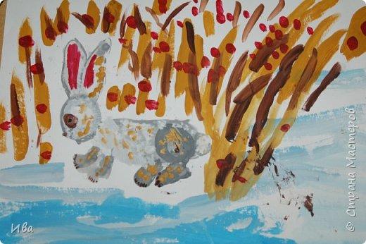 Образ зайца в различных образах рисовали с детьми с помощью графических материалов. Использовали фломастеры, маркеры , масляные мелки. фото 14