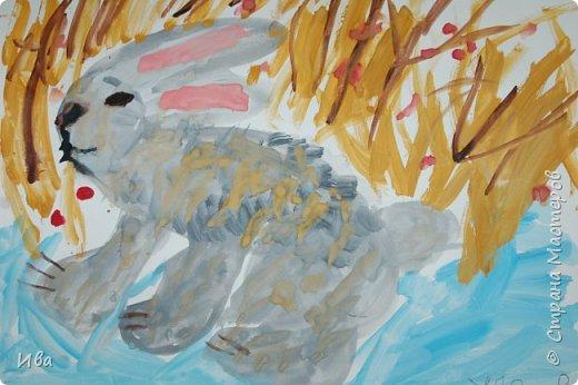 Образ зайца в различных образах рисовали с детьми с помощью графических материалов. Использовали фломастеры, маркеры , масляные мелки. фото 15