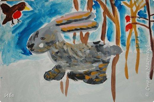 Образ зайца в различных образах рисовали с детьми с помощью графических материалов. Использовали фломастеры, маркеры , масляные мелки. фото 16