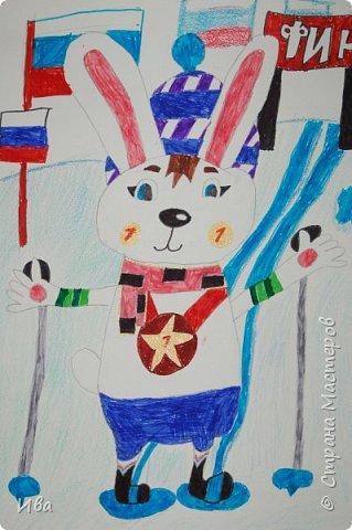 Образ зайца в различных образах рисовали с детьми с помощью графических материалов. Использовали фломастеры, маркеры , масляные мелки. фото 6