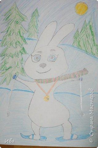 Образ зайца в различных образах рисовали с детьми с помощью графических материалов. Использовали фломастеры, маркеры , масляные мелки. фото 5