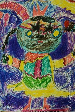 Образ зайца в различных образах рисовали с детьми с помощью графических материалов. Использовали фломастеры, маркеры , масляные мелки. фото 1