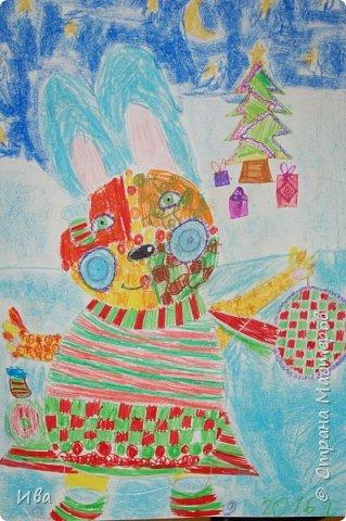Образ зайца в различных образах рисовали с детьми с помощью графических материалов. Использовали фломастеры, маркеры , масляные мелки. фото 10
