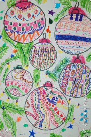 Новогодние шары . Дудлинг фото 4