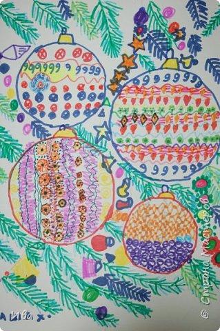 Новогодние шары . Дудлинг фото 9
