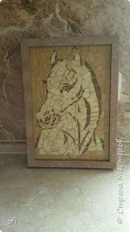 Мозайка лошадь