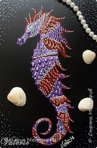 Морской конёк. Точечная роспись фото 2