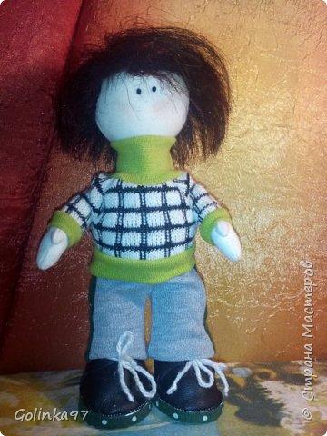 Добрый вечер страна!!!!  Вот такой Филипп у меня сотворился, потому, что Каролина http://stranamasterov.ru/node/1058125 не может быть одна.... Так сказала заказчица куклы.  фото 1