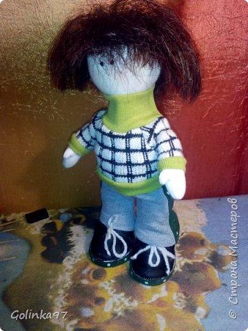 Добрый вечер страна!!!!  Вот такой Филипп у меня сотворился, потому, что Каролина http://stranamasterov.ru/node/1058125 не может быть одна.... Так сказала заказчица куклы.  фото 2