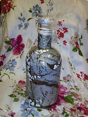 Добрый день всем мастерам сайта! Наконец-то доделала бутылочку Терра. фото 7