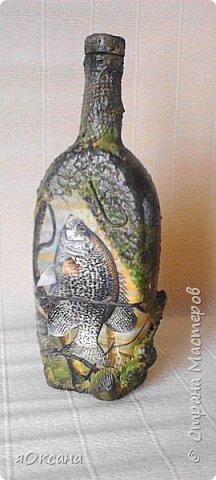Мои бутылочки в подарок рыбакам.Хочу сказать огромное спасибо тем,кто выкладывает свои работы и мастер классы к ним.Вот,что получилось у меня благодаря вам. фото 1