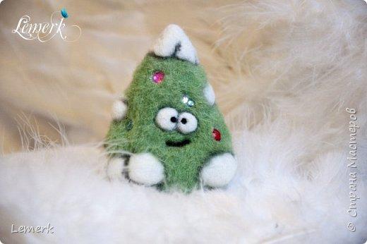 Йолка. Валяная из шерсти забавная новогодняя ёлочка фото 1