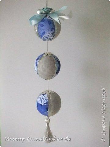 Все новогодние шарики выполнены в технике кимекоми. Работа кропотливая, требует аккуратности и терпения, но зато результат очень радует. А главное-такой полет фантазии в выборе ткани, в комбинациях и конечно же в декорировании. фото 3