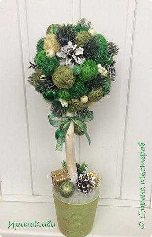 Первое новогоднее деревце в зелено-золотистых тонах. фото 1