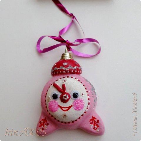 «Ёлочная игрушка – Новогодний будильник» (опилки)  фото 1