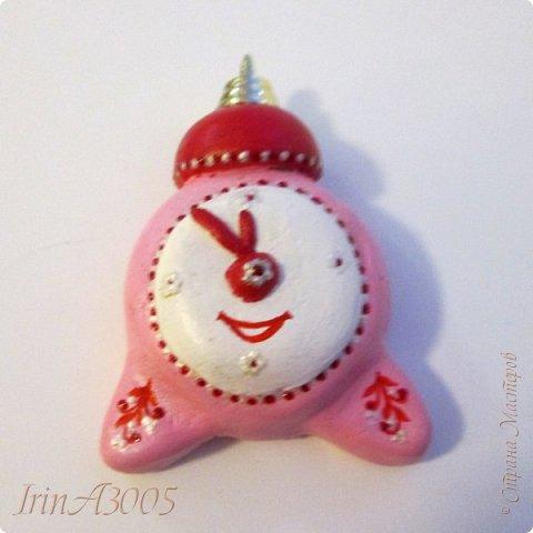 «Ёлочная игрушка – Новогодний будильник» (опилки)  фото 13