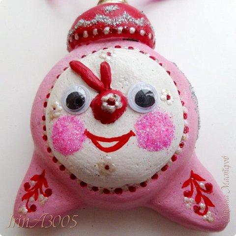 «Ёлочная игрушка – Новогодний будильник» (опилки)  фото 17