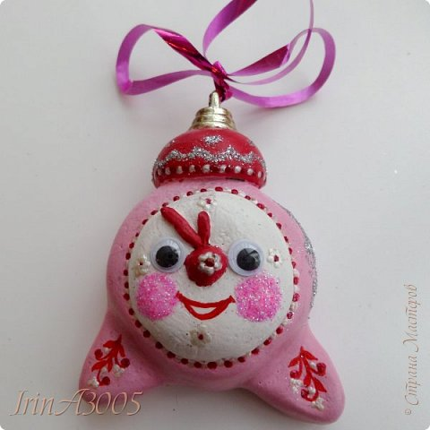 «Ёлочная игрушка – Новогодний будильник» (опилки)  фото 18