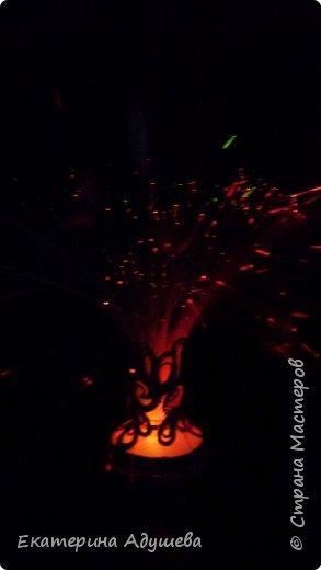 Светильник ваза с цветами. Светильник был куплен в фикс прайсе и оформлен джутовым канатом. фото 4