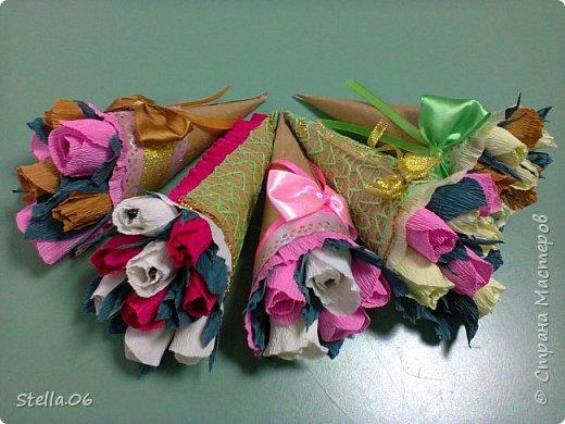 Такими сладкими букетиками сынуля угощал учителей в  День учителя фото 3