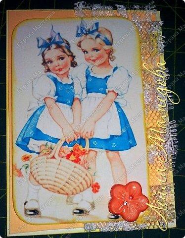 """Моя серия """"Детские Радости""""  по совместнику  http://stranamasterov.ru/node/1055187?c=favorite . Для меня в детстве самой большой радостью было ЛЕТО. Кружево под картинкой немного подкрасила желтой краской,имитирую солнечные лучи. фото 5"""