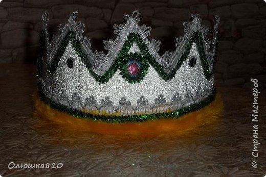 Ёлочка-иголочка - карнавальный костюм для девочки и корона для принца фото 7