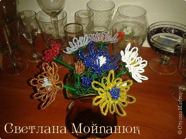 Цветы из бисера. фото 3