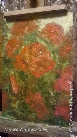 Картины маслом, на холсте. Чайные розы из моего сада. фото 7