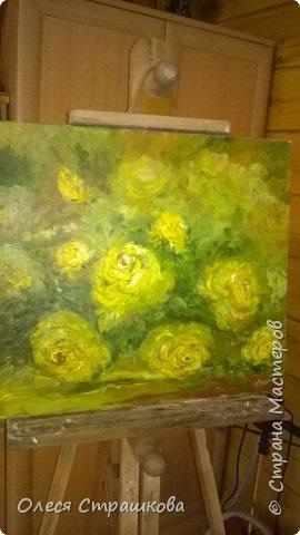 Картины маслом, на холсте. Чайные розы из моего сада. фото 3
