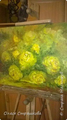 Картины маслом, на холсте. Чайные розы из моего сада. фото 4