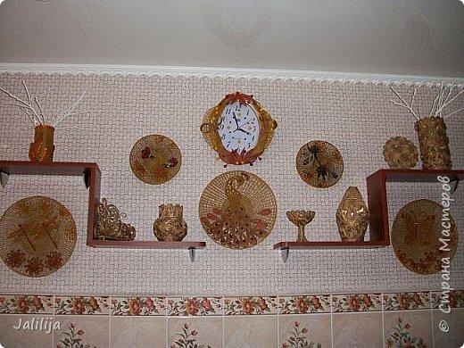 Здравствуйте! Короткое дополнение к материалу, который я показывала весной. Речь шла о  декорировании кухонной стены. Тогда я посетовала, что не хватает комнатных цветов. За лето  я вырастила для этой кухни хлорофитум, самые кухонные цветы. фото 1