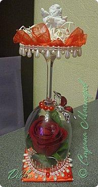 Роза в бокале фото 1