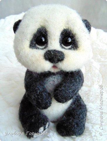 """Панда валяная """"Сима"""" фото 1"""