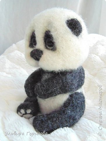 """Панда валяная """"Сима"""" фото 3"""