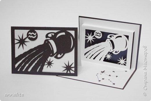 """Здравствуйте. Как и обещала, выкладываю вторую часть открыток """"Зодиак"""" (первую можно глянуть здесь: http://stranamasterov.ru/node/1056886). Схемы можно найти на Картонкино.  1. Открытки """"Козерог"""" фото 4"""