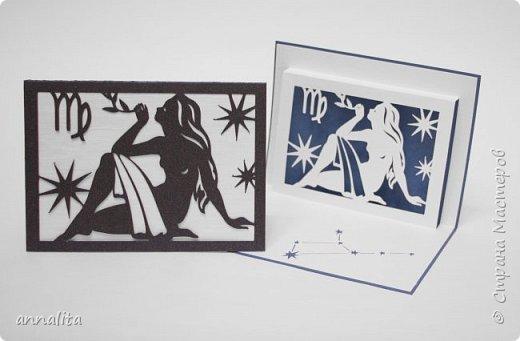 """Здравствуйте. Как и обещала, выкладываю вторую часть открыток """"Зодиак"""" (первую можно глянуть здесь: http://stranamasterov.ru/node/1056886). Схемы можно найти на Картонкино.  1. Открытки """"Козерог"""" фото 5"""