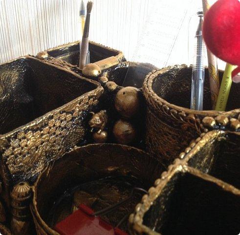 по случаю ДР подруги сделала органайзер, заодно и остатки кружев использовала. фото 8