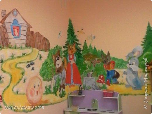 Совместная  работа  роспись стены в Детском саду. фото 1