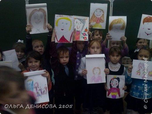 Каждый год в нашем детском объединении реализуется небольшой проект, посвященный Дню Матери. С большим удовольствием дети рисуют портреты своих мам и изготавливают  небольшие подарки. фото 2