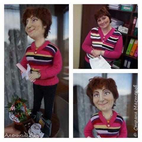 Коллеги с грустью узнали о предстоящем отъезде своей сослуживицы...и заказали мне куклу))) фото 3