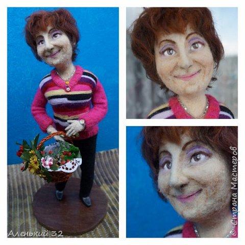 Коллеги с грустью узнали о предстоящем отъезде своей сослуживицы...и заказали мне куклу))) фото 2