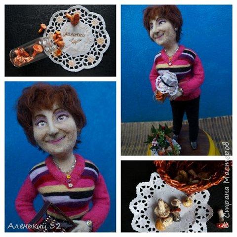 Коллеги с грустью узнали о предстоящем отъезде своей сослуживицы...и заказали мне куклу))) фото 5