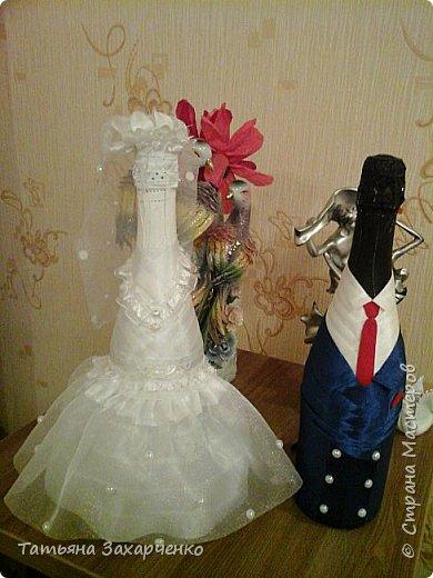Первый раз решила попробовать сделать на свадьбу вот таких молодоженов. Я знаю, можно было бы и красивее. Друзья, приму любую критику!   фото 2