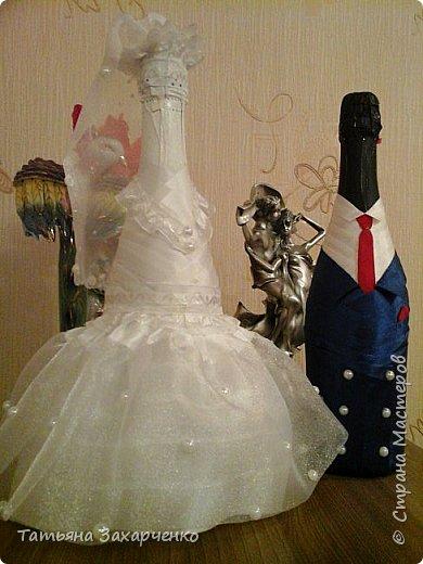 Первый раз решила попробовать сделать на свадьбу вот таких молодоженов. Я знаю, можно было бы и красивее. Друзья, приму любую критику!   фото 3