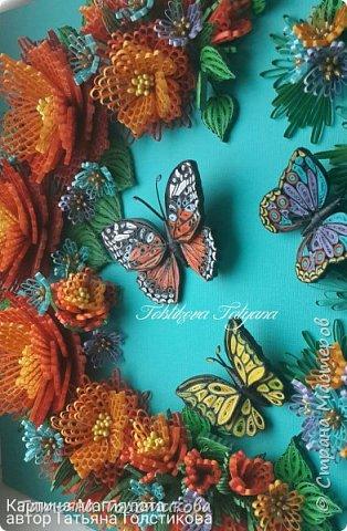 """Представляю свою новую работу """"Магия лета"""". На создание этой картины меня снова вдохновила работа Надежды http://stranamasterov.ru/user/365018, но к сожалению, она пока не выставила ее здесь, но думаю очень скоро ее покажет. Идея больших цветов взята именно с ее работы, и я в очередной раз хочу выразить Надежде огромною благодарность! Ну, а теперь желаю вам приятного просмотра. фото 7"""