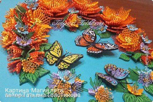 """Представляю свою новую работу """"Магия лета"""". На создание этой картины меня снова вдохновила работа Надежды http://stranamasterov.ru/user/365018, но к сожалению, она пока не выставила ее здесь, но думаю очень скоро ее покажет. Идея больших цветов взята именно с ее работы, и я в очередной раз хочу выразить Надежде огромною благодарность! Ну, а теперь желаю вам приятного просмотра. фото 5"""