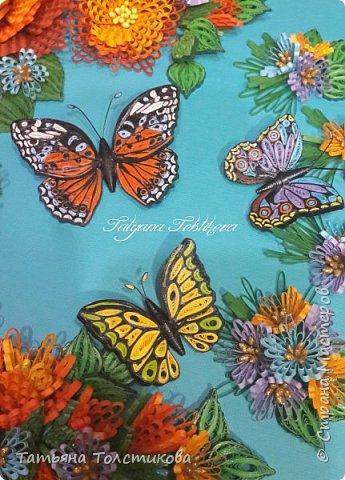 """Представляю свою новую работу """"Магия лета"""". На создание этой картины меня снова вдохновила работа Надежды http://stranamasterov.ru/user/365018, но к сожалению, она пока не выставила ее здесь, но думаю очень скоро ее покажет. Идея больших цветов взята именно с ее работы, и я в очередной раз хочу выразить Надежде огромною благодарность! Ну, а теперь желаю вам приятного просмотра. фото 6"""
